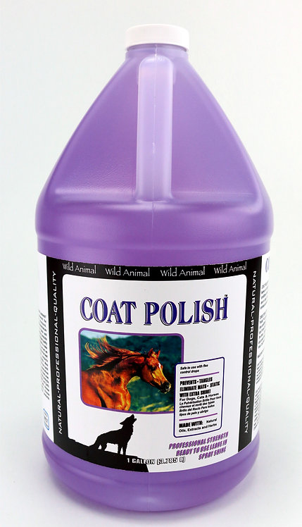 Coat Polish Leave In Conditioner by Wild Animal - Gallon