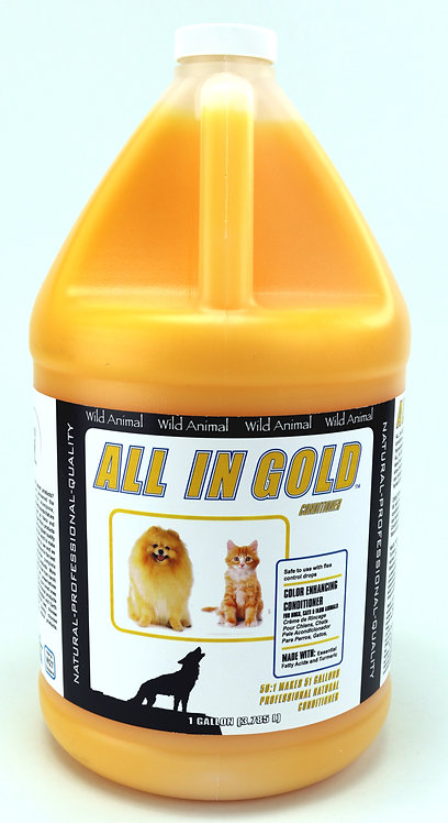 All in Gold Color Enhancing Conditioner by Wild Animal 50:1 - Gallon