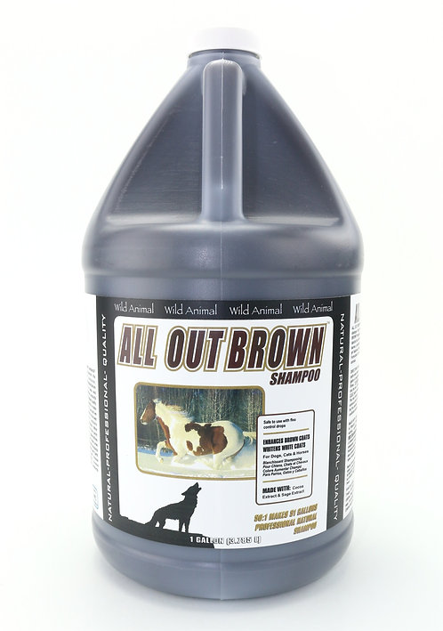All Out Brown Color Enhancing Shampoo by Wild Animal 50:1 - Gallon
