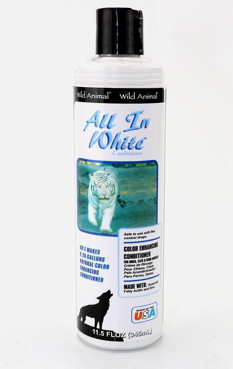 All In White Color Enhancing Conditioner by Wild Animal 50:1 - 11.7oz
