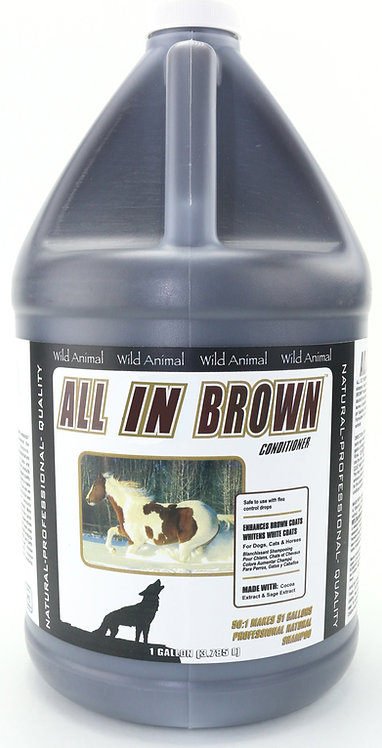 All in Brown Color Enhancing Conditioner by Wild Animal 50:1 - Gallon