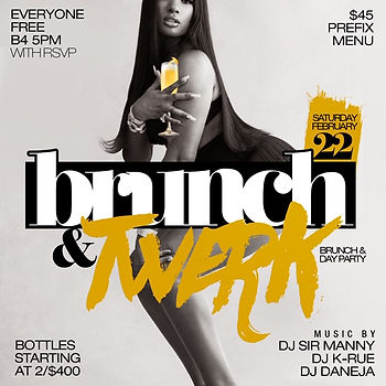 Every Saturday Brunch & Day Party At Le Reve NYC 125 East 54th St, New York, NY 10022...Doors open 2pm-10pm, everyone free until 5pm...2 hours unlimited bottomless pre-fix menu, hookah and bottle specials available...Text/call 646.522.5400 or CeoFresh@gmail.Com for more info