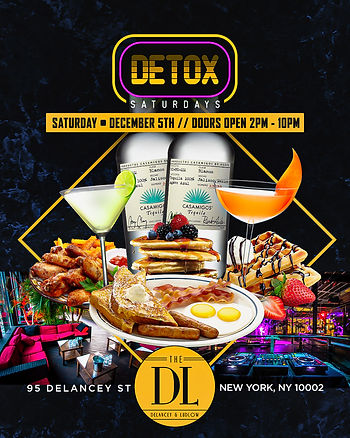SATURDAY DECEMBER 5th...BRUNCH & DAY TIME DINING@DELANCEY LUDLOW (DL)2PM-10PM...4HOUR BRUNCH SEATING 2PM-6PM OR 6PM-10PM...$65 PRE-FIX MENU PER PERSON INCLUDES 1 ENTREE & 3HOURS OF UNLIMITED MIMOSAS...BOTTLE SERVICE STARTING AT 2 BOTTLES FOR $500 PRE ORDER...$50 DEPOSIT REQUIRED FOR ALL BRUNCH RESERVATIONS... Text/call 646.522.5400 or CeoFresh@gmail.Com For More Info...RSVP LINK BELOW FOR MORE DETAILED INFO