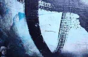 Close up på Rumor has it - abstrakt konst till salu