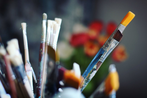 shake and create intuitivt måleri
