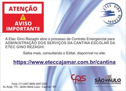 Contrato Emergencial para administração da cantina