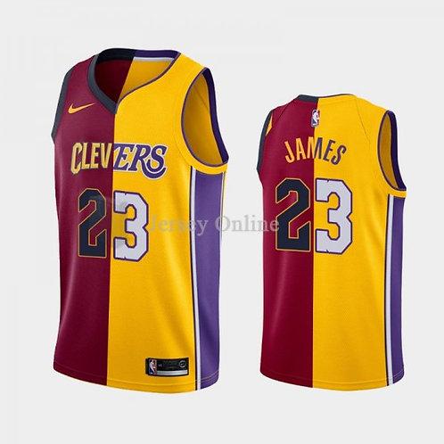 Lebron James Los Angeles Lakers + Clevlend Cavaliers swingman jersey