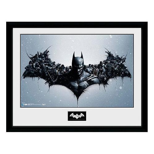 DC Batman denevér sziluett keretezett kép 40x30 cm