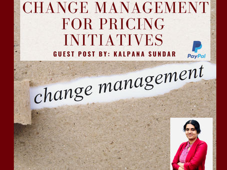 Change Management for Pricing Initiatives
