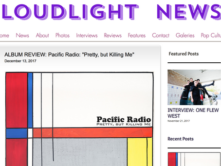 Loudlight News album review ofPacific Radio:Pretty, but Killing Me