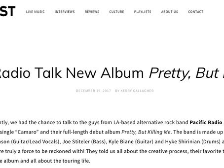 Soundigest.com talks new album and general life with Pacific Radio