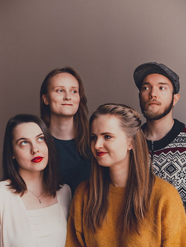Vuolas band; Emma Lomy, Verna Kylmänen, Aurora Visa and Onni Rajaniemi