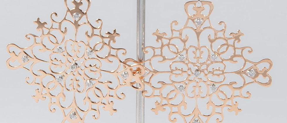 Rose Gold Diamond Dangling Earrings