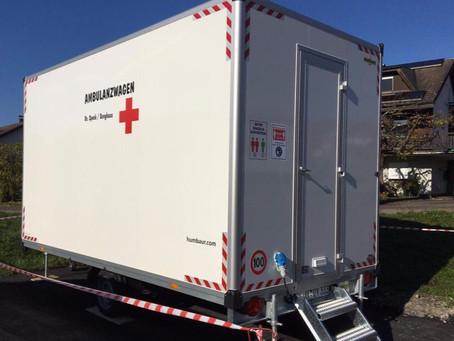 Corona Ambulanzwagen