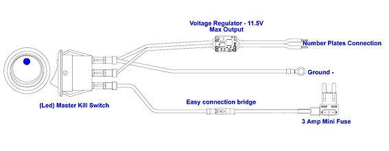 Led plates wiring method