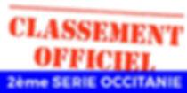 Classement Officiel 2EME SERIE OCCITANIE