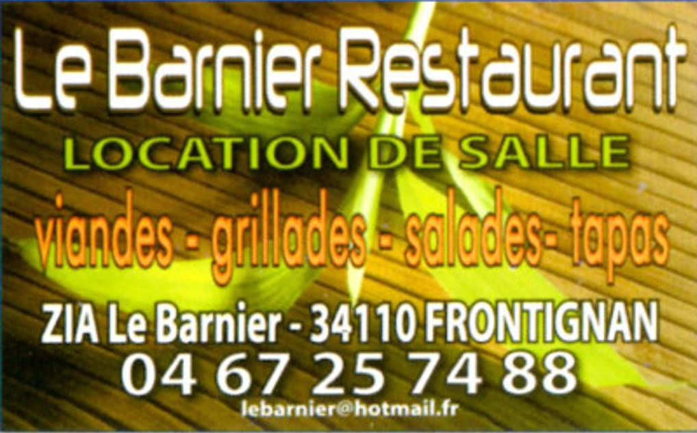CARTE VISITE restaurant LE BARNIER