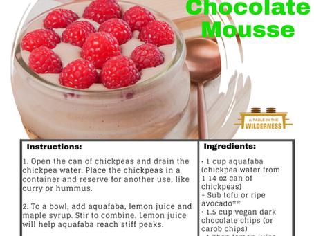 Aquafaba Chocolate (Carob) Mousse