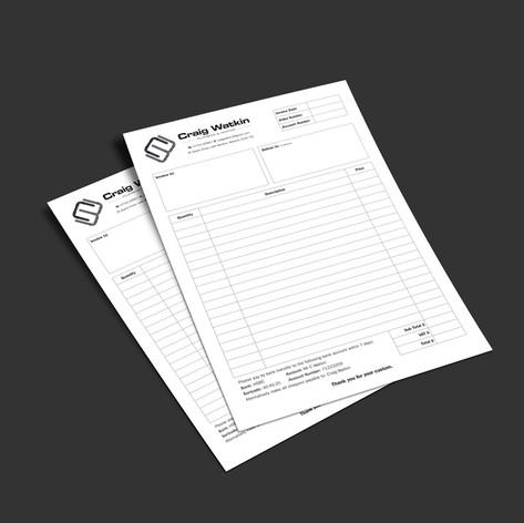 Craig Watkin Plumbing & Heating Invoice Pad