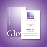 Glow Image Consultant Business Card Design