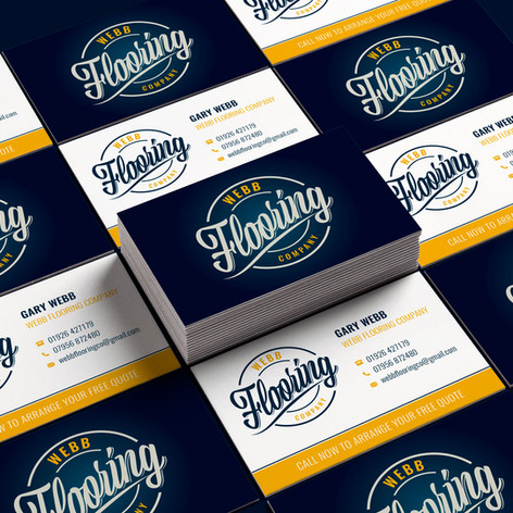 Webb Flooring Company Business Cards