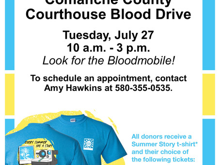 Blood Drive @ Comanche County Courthouse