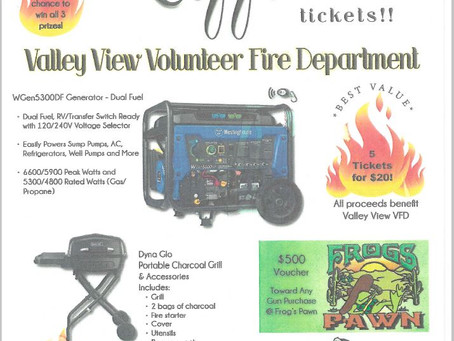 Valley View VFD to host Annual Chili Dinner & Raffle