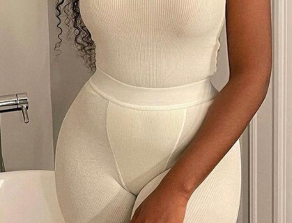 Simple Sexy Loungin   Off White Set