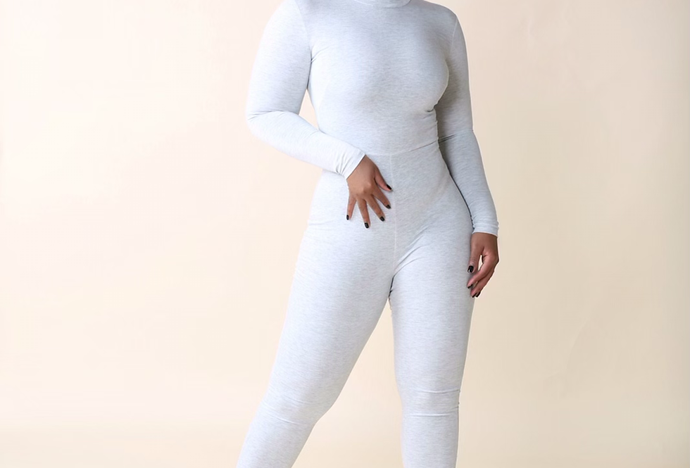 Shade Of Grey - Turtleneck Catsuit