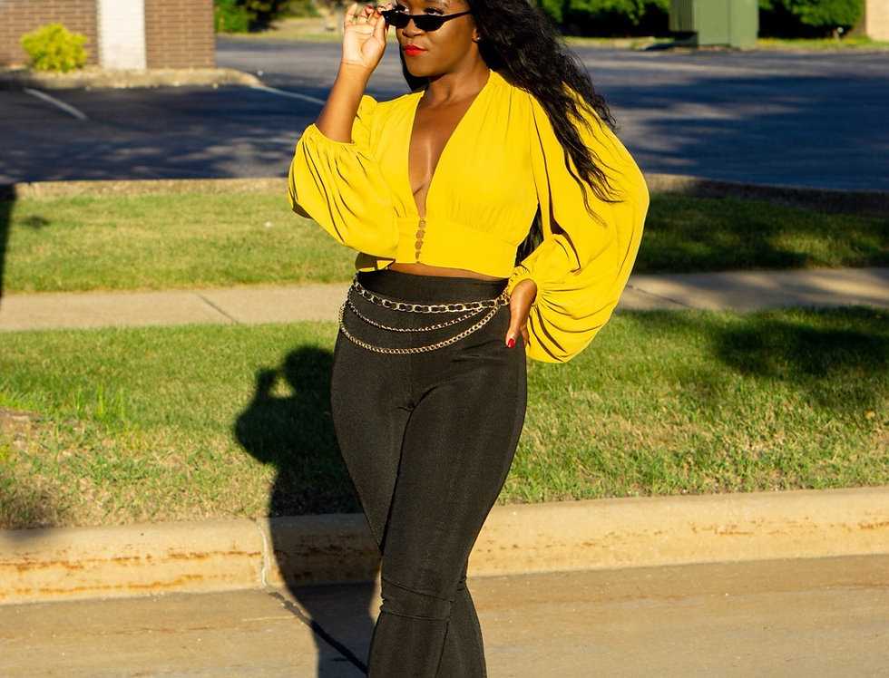 Melanin Me Please - Crop Blouse