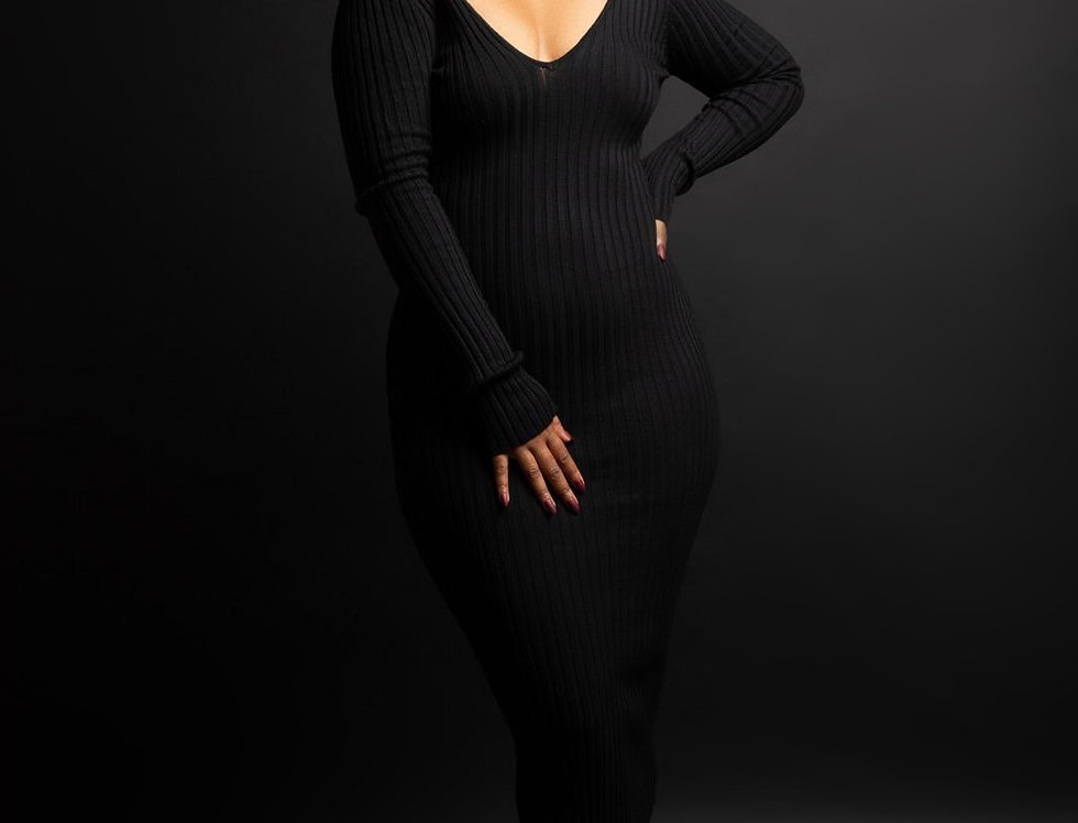 Never Too Sexy- Ribbed Dress
