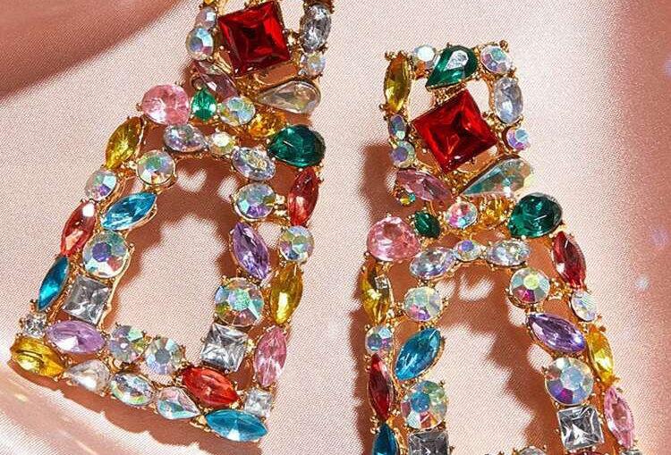Colorful Bliss Bling - Earrings