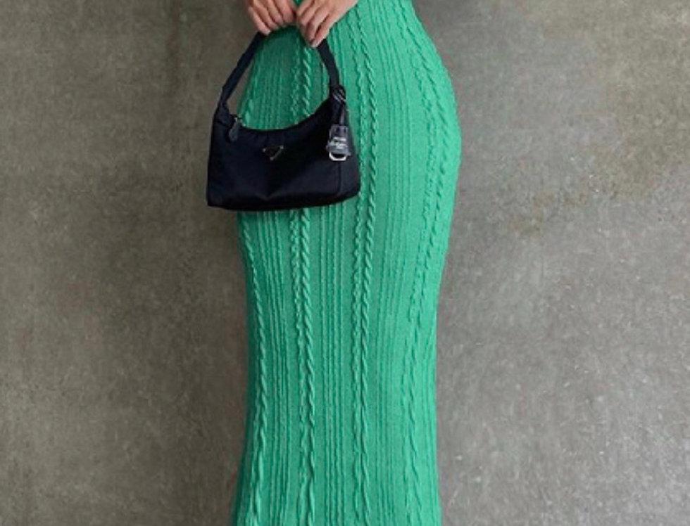 Lucky You | Green Knit Dress