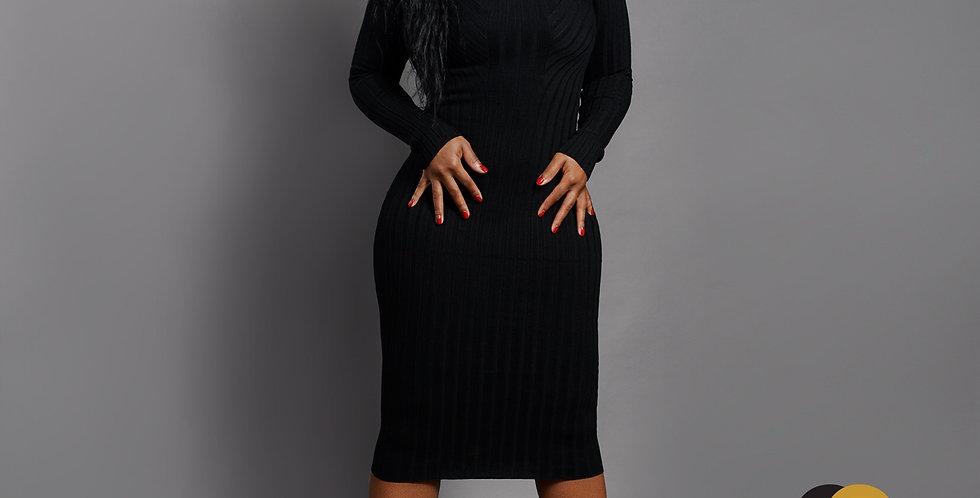 The Boss - Black Turtleneck Dress