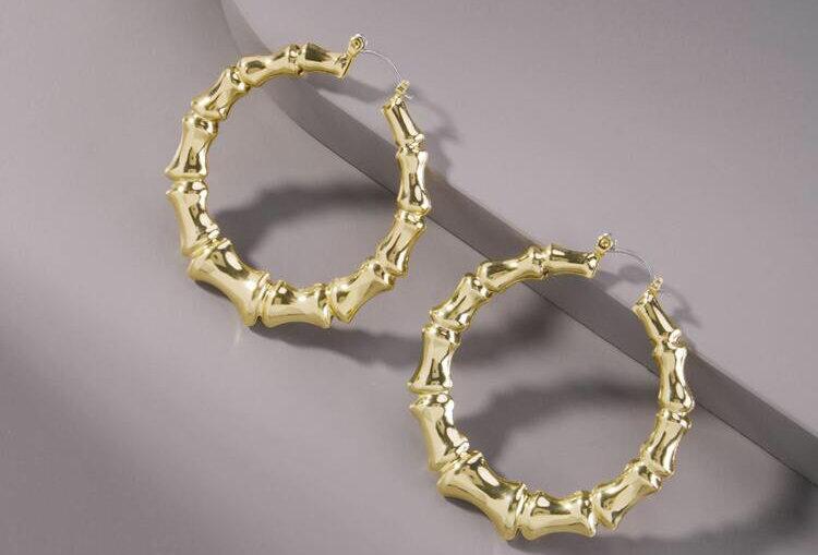 Brooklyn Bamboo - Gold Earrings