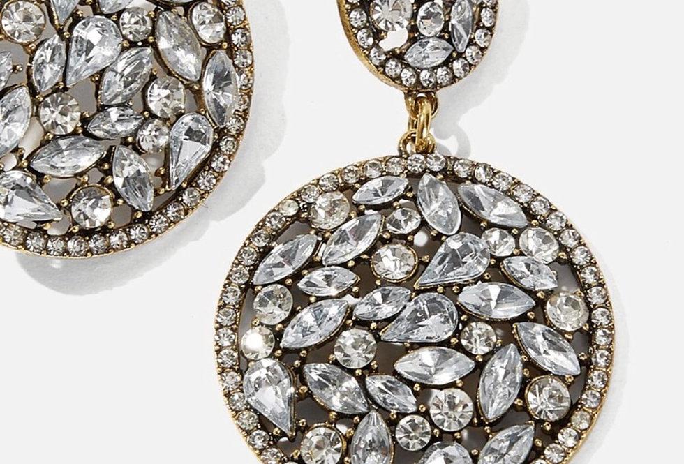 Diamonds are a girl's bestie - Rhinestone Earrings