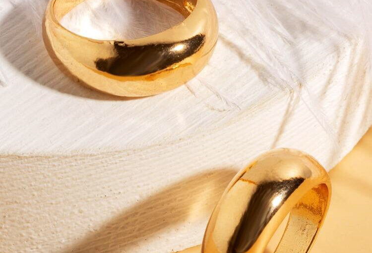 Chunky Gold Rings - Set of 2