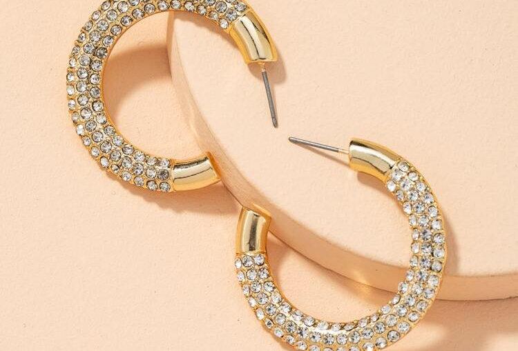 Girly - Diamond Hoops
