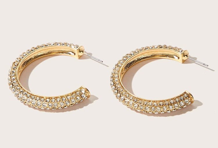 Goldie - Diamond Hoops