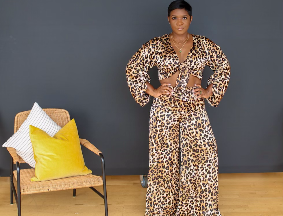Too Much For You | Satin Leopard Set