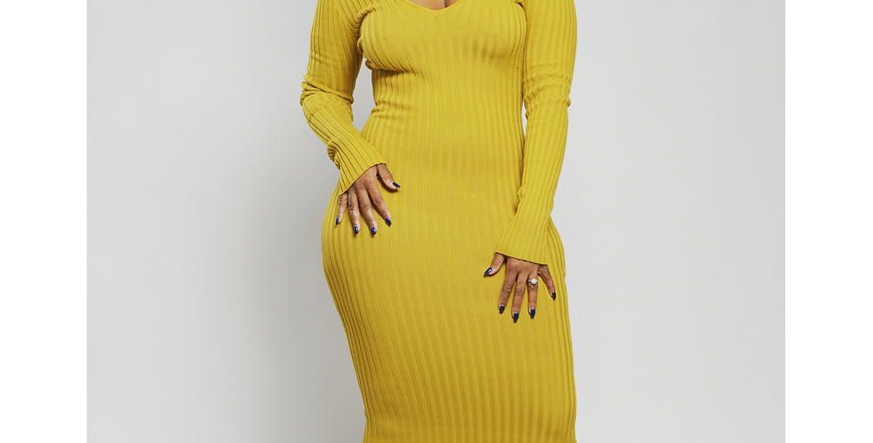 Feeling Sexy - Mustard Yellow Dress