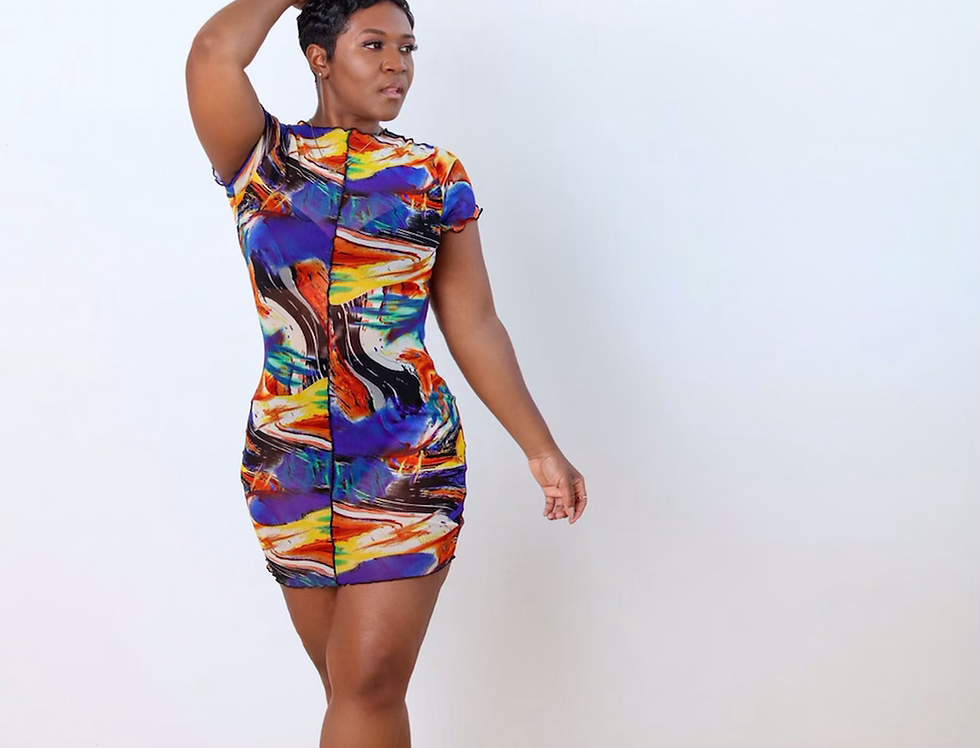 Vanna   Abstract Mesh Dress