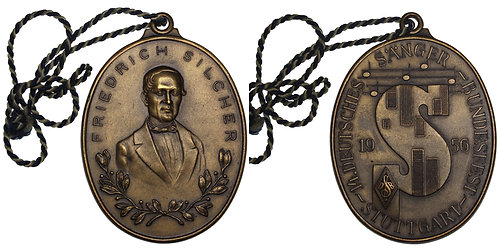 100289  |  GERMANY. Friedrich Silcher oval bronze Medal.