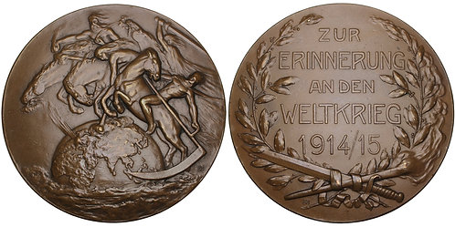 100667  |  GERMANY. Four Horseman/Propaganda bronze Medal.
