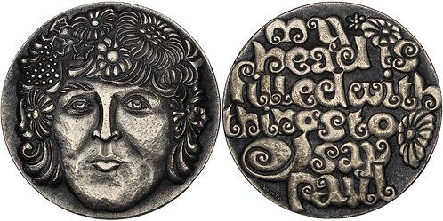 100270  |  GREAT BRITAIN. The Beatles' Paul McCartney silvered bronze Medal.