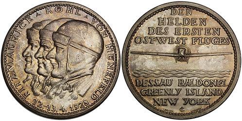 100611  |  GERMANY. Von Hünefeld, Köhl & Fitzmaurice silver Medal.
