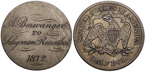 100843  |  UNITED STATES. Berwanger & Rosenthal silver Friendship Token.