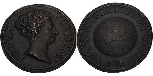 100195  |  SWEDEN. Kristina cast bronze Medal.