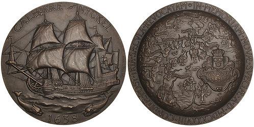 101216     UNITED STATES & SWEDEN. Founding of Delaware bronze Medal.