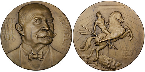 101711     GERMANY. Graf von Zeppelin/Miracle at Echterdingen bronze Medal.